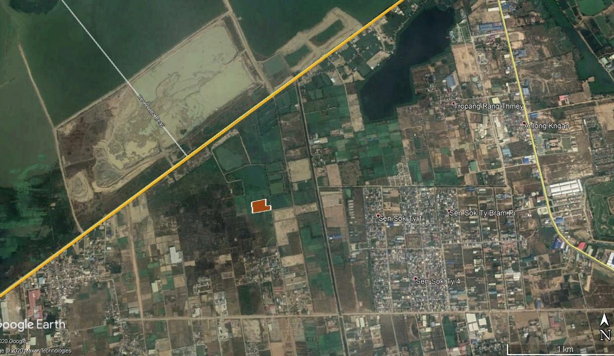 14439 M² Potential Land For Sale Near Boeung Kob Srov Map