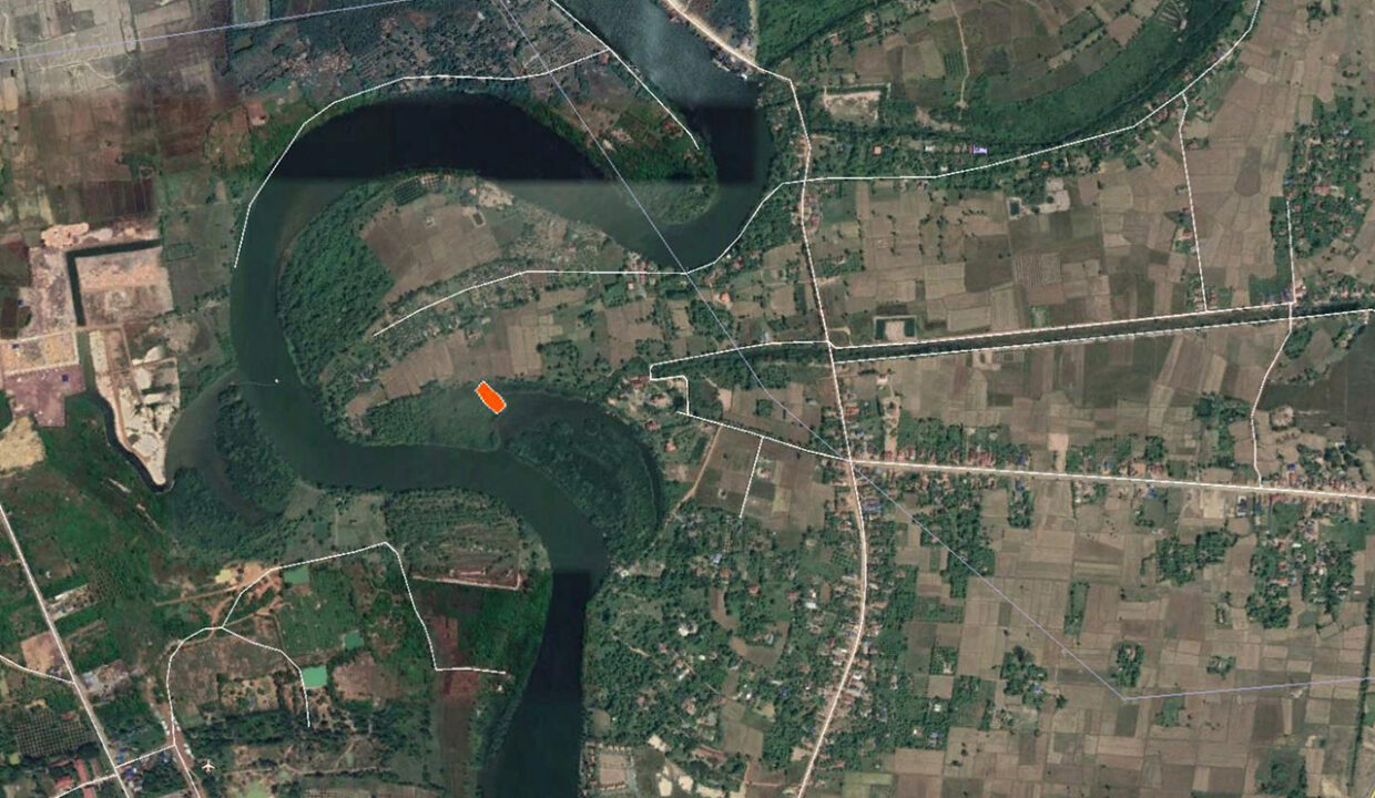 15449 Sq,m Land Next To Stream For Sale @ Kampot Province Location
