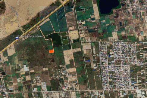 7225 Sqm Potential Land For Sale Near Boeung Kob Srov Map