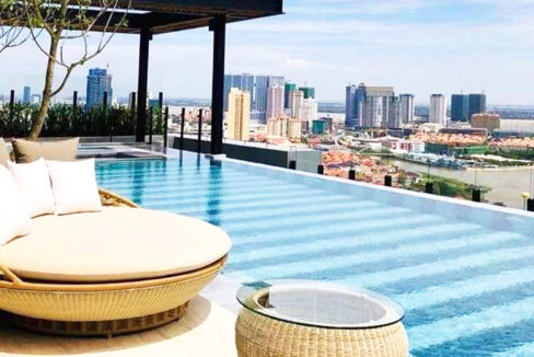 Amazing 1 Bed Condo With Pool For Rent Tonle Bassac 9