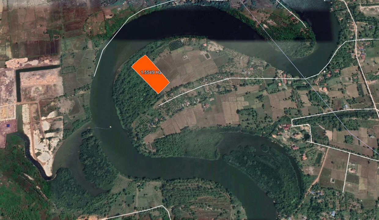 15549 Square Meters Land For Sale @ Kampot Province Location