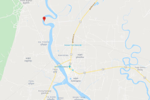 15549 Square Meters Land For Sale @ Kampot Province Map