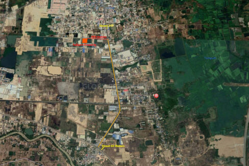 9909 SQM Potential Land For Sale @ Dangkao Commune Map