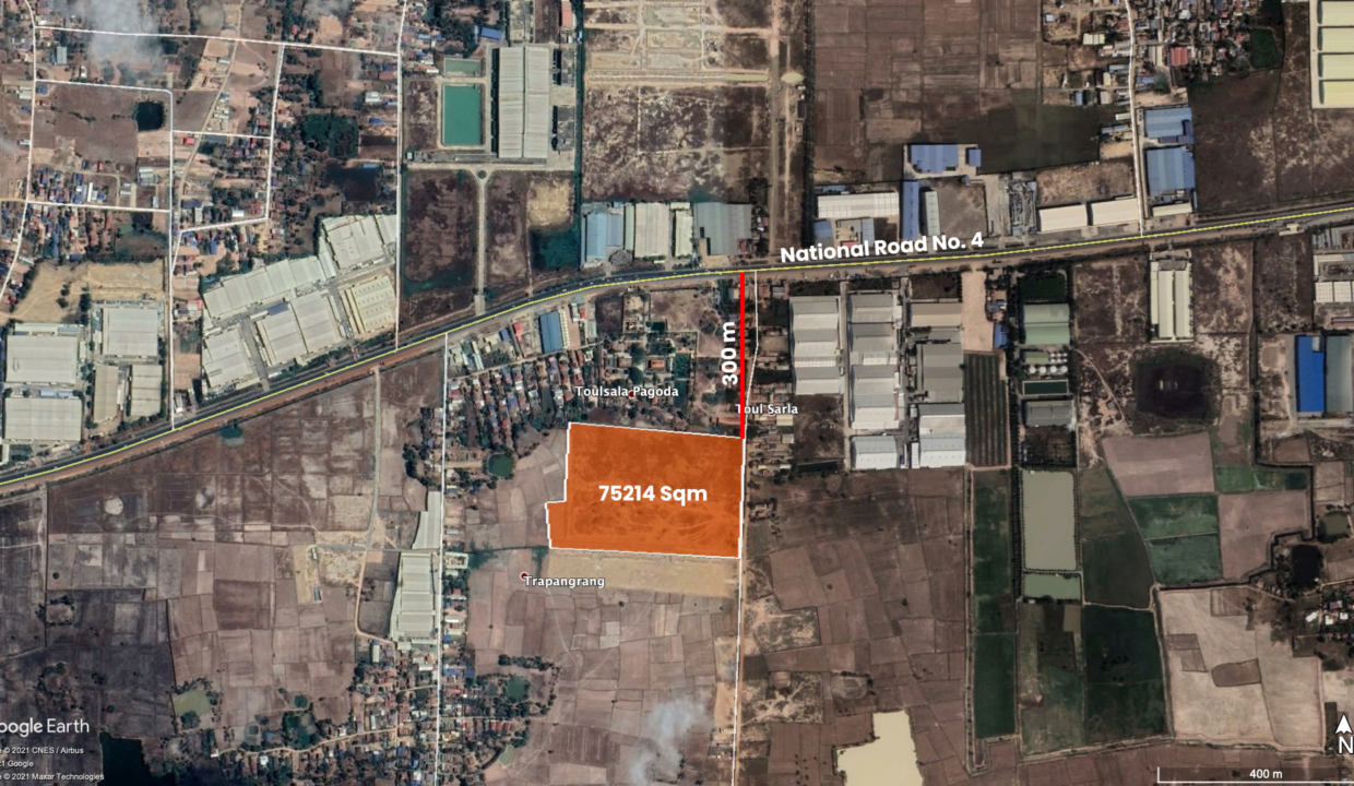 7.5 Ha Potential Land For Sale Angk Snuol District Location Map