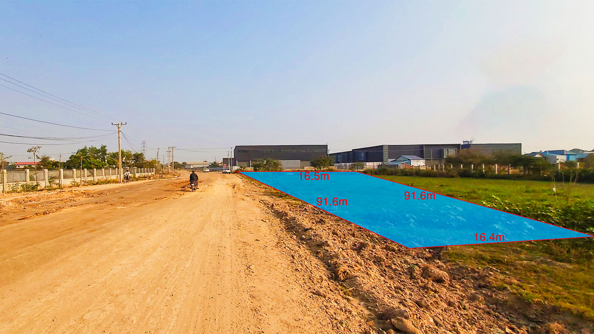 1495 Sq.m conner land for urgent sale – Krong Ta Khmau